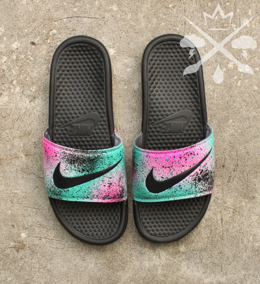 Nike Custom Lebron 8 Miami Nights Benassi Swoosh Slide