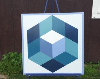 3' x 3' Barn quilt Hexagon pattern - Block Party