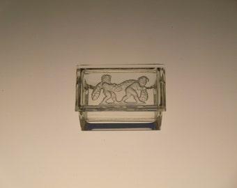 Bohemian Czech Curt Schlevogt Art Deco Crystal Cut Glass Puti Dose