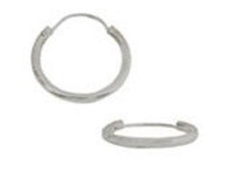 20mm Sterling Silver Domed Hoop (20 pcs)
