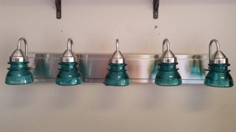 Insulator Glass Vanity Light : 32 Modern Insulator 5 Light Vanity