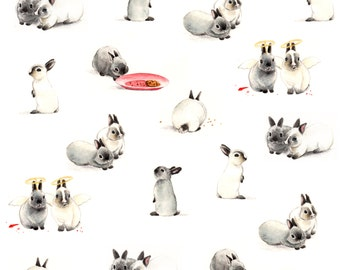 Little Bunnies Fabric Print - Fat Quarter