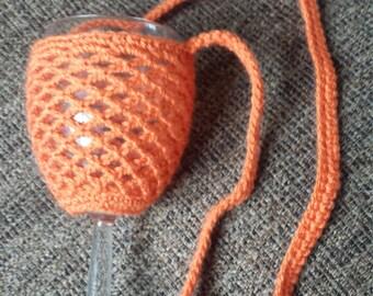 Crochet wine glass holder/necklace pattern