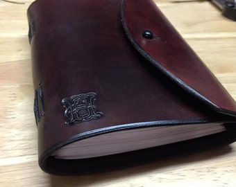 Hand Made Leather Journal with Initial