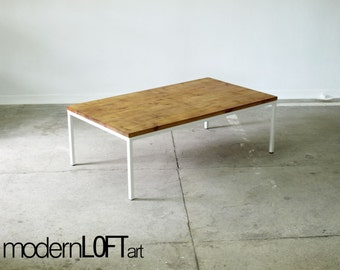 coffee table side table table industrial loft vintage solid wood metal design