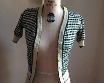 Buttondown shortsleeved sweater XS