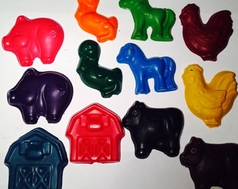 Farm Animal Crayons! Party favors. Western Party