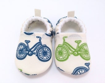 Bicycle Organic Baby Shoes, Soft Sole Baby Shoes, Baby Booties, Toddler slippers