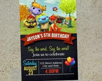 Wallykazam Birthday Invitation Wallykazam Invitation Wallykazam Invite Free Thank you Card Included