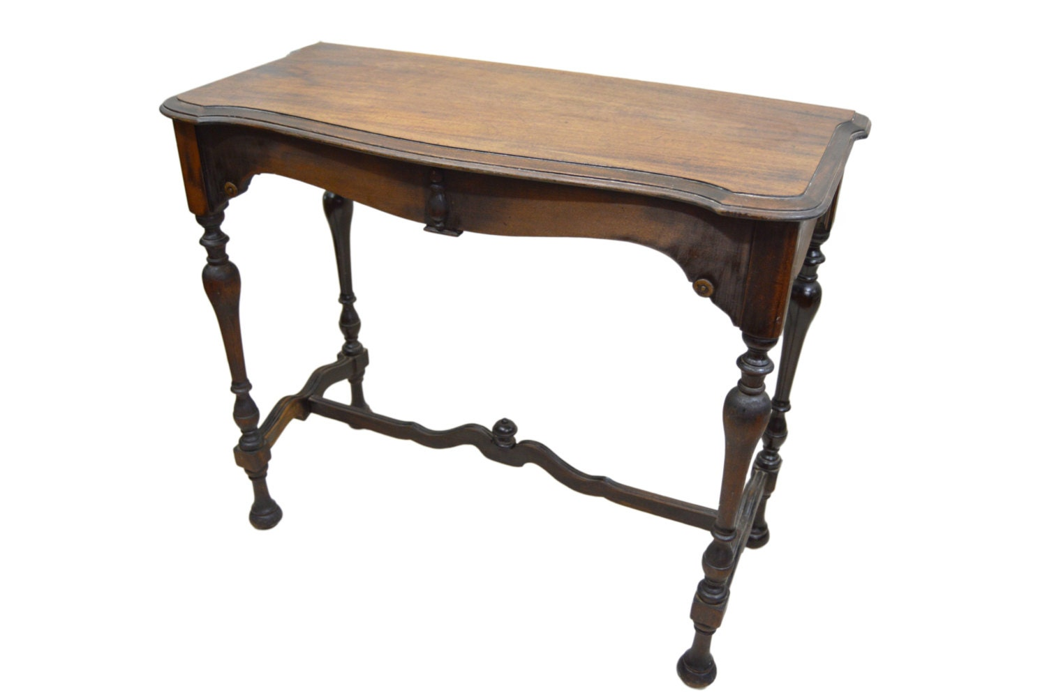 Antique entry table rustic american victorian