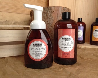 Pink Grapefruit Foaming Soap and Refill Combo