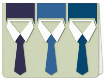 Neck Tie Card , Blank , dad, father, business man, die-cut , promotion , new job, congratulations, FREE CONFETTI