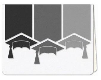 Graduation Cap Card , Blank inside, teens, school, college, university , classes, teachers, encouragement , congratulations, FREE CONFETTI