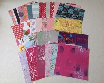 Disney Pattern Paper , 6 x 6 sheets, kids, adults, teens, school, art, crafts , origami , scrapbooking