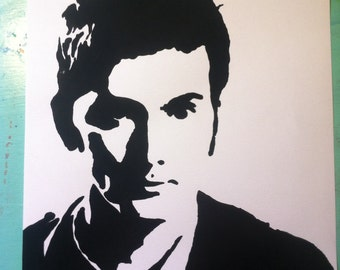 David Tennant watercolor painting