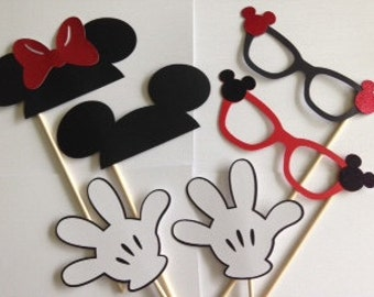 Mickey and Minnie Photo booth Prop Pack
