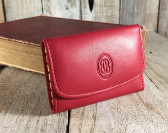 Buxton Red Key Wallet, Key Holder Wallet, Key Chain Wallet, Red Leather Key Wallet, Key Holder Case, Key Case, Key Wallets