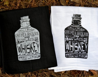 Whiskey Flour Sack Towel