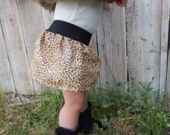 Cheetah print skirt, leopard skirt