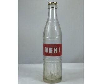 Vintage NEHI Bottle, vintage soda bottle, soda bottle vase