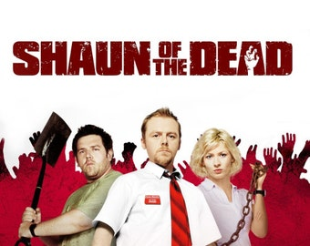 """Shaun of the Dead  Set of 6 Pinback Buttons- 1"""""""