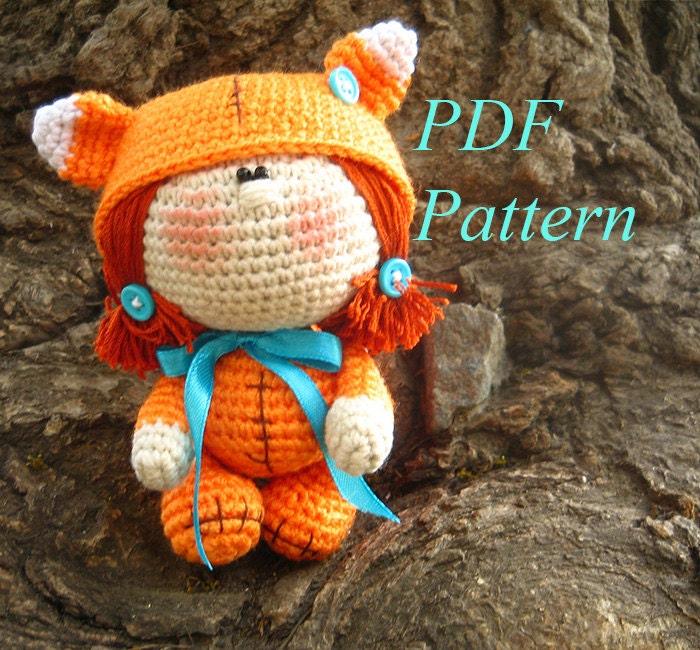 Little Fox Amigurumi : Amigurumi crochet pattern Little Fox PDF pattern ENGLISH