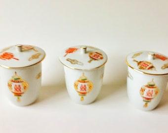 Tatung Porcelain Lidded Teacups / Teacups / Chinese Teacups / Porcelain Teacup / Porcelain Teacup With Lid / Lidded Tea Cup / Tea Set /
