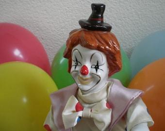 circus clown music box, mechanical