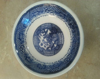 Small Vintage Blue & White Bowl