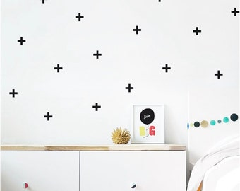 Cross wall decal stickers | Available in a range of colours