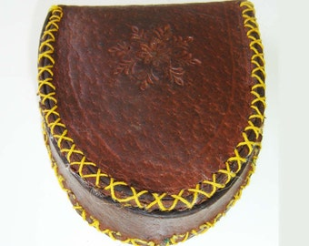 Leather Coin Holder , Coin Pouch , Change Purse , Coin Purse
