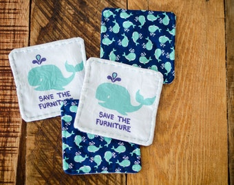Save The Furniture Whale Coasters (Set of Four)