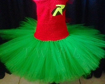 The Robin - robin tutu, Robin costume, batman and robin costumes, Superhero tutu, girls superhero costumes