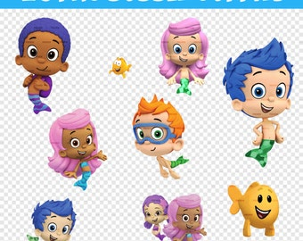 30 Images Bubble Guppies PNG