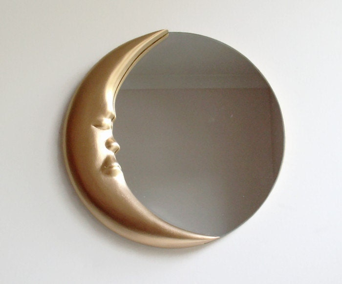 Man In The Moon Wall Mirror 12 Round Mirror Hand