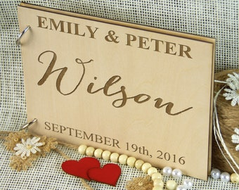 Custom Unique Wedding Anniversary Bridal shower guest book, Personalized gift, Gift for couple, Birthday gift, Photo album, Rustic wedding