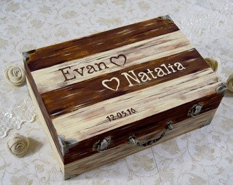Alternative Wedding Guest Book, Wood Guest Book, Rustic Wedding Box, Rustic Custom Guest Book Alternative