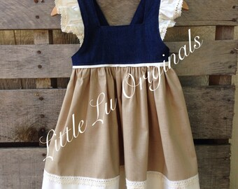 Autumn Willow Flutter Dress | denim dress | toddler dress | toddler denim dress | girls dress | flutter sleeves