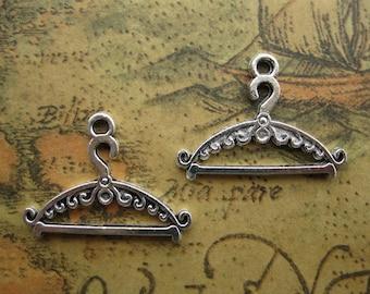 20 pcs 12x18mm Antique Silver Hanger Charms Pendants Hanger Pendant Charm A