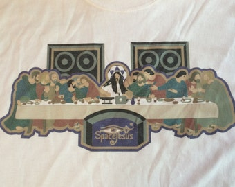 """Space Jesus's """"Space Supper"""" T-Shirt"""