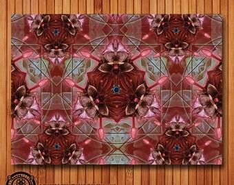 Kaleidoscopic Psychedelic Bloom Postcard