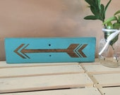 Pallet Arrow Turquoise Teal and Stain