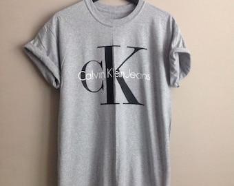 Classic old school ck1calvin klein top t-shirt festival unique swag indie ibiza