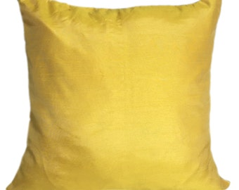 Set of 2 Canary Yellow Pillow & Sham Covers Yellow Decorative Pillow Yellow Accent Pillow Yellow Throw Pillows Yellow Bedding