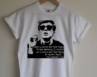 The Breakfast Club T-shirt - 1985 Cult Movie, All Sizes/Colours