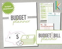 Printable, Editable Budget Planner with Worksheets and Form Fields, Instant Digital Download