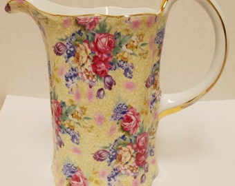 Vintage Royal Cotswolds by B. Godinger Rose Chintz Pitcher