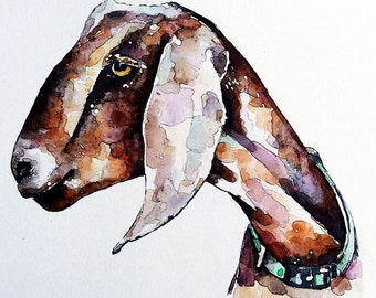"Nubian  "" Print Watercolour A3 (30*40cm/16*12 Inches)"
