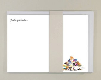 Kitty  -  NOTE CARDS ( 6 notelets and 6 envelopes)
