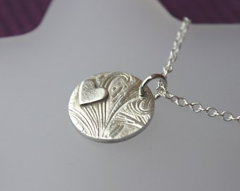 Fine Silver Heart Pendant